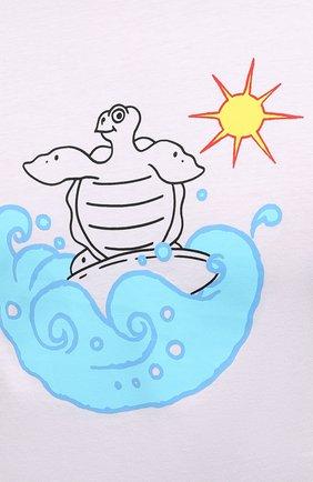 Мужская хлопковая футболка  VILEBREQUIN белого цвета, арт. TAOU1P29/010 | Фото 5 (Рукава: Короткие; Длина (для топов): Стандартные; Материал внешний: Хлопок; Стили: Кэжуэл)
