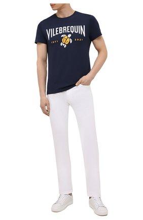 Мужская хлопковая футболка  VILEBREQUIN темно-синего цвета, арт. THOU1P50/390 | Фото 2