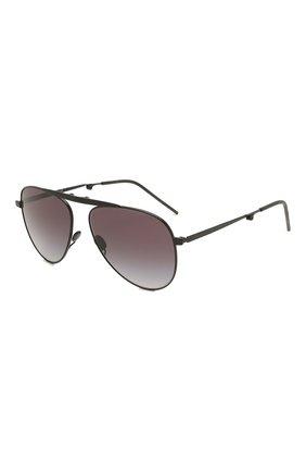 Мужские солнцезащитные очки GIORGIO ARMANI темно-серого цвета, арт. AR6113T | Фото 1