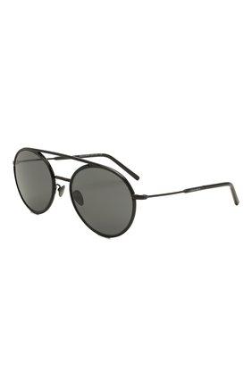 Мужские солнцезащитные очки GIORGIO ARMANI черного цвета, арт. AR6121J | Фото 1