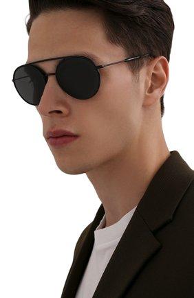 Мужские солнцезащитные очки GIORGIO ARMANI черного цвета, арт. AR6121J | Фото 2