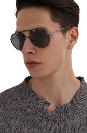 Мужские солнцезащитные очки GIORGIO ARMANI серого цвета, арт. AR6121J | Фото 2