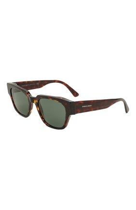 Мужские солнцезащитные очки GIORGIO ARMANI коричневого цвета, арт. AR8147 | Фото 1
