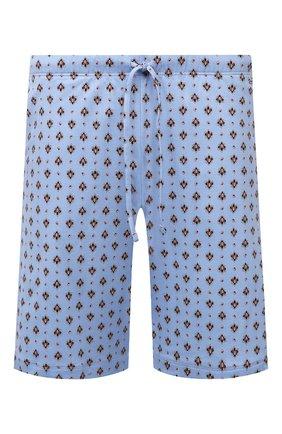 Мужские хлопковые шорты HANRO синего цвета, арт. 075513   Фото 1