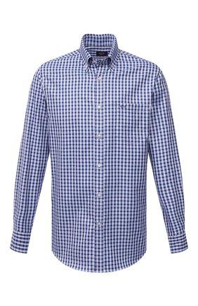 Мужская хлопковая рубашка PAUL&SHARK синего цвета, арт. 11313160/C00 | Фото 1