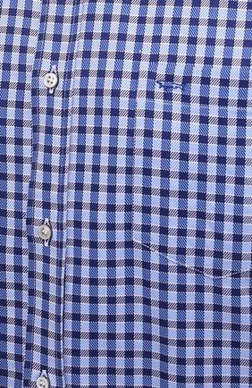 Мужская хлопковая рубашка PAUL&SHARK синего цвета, арт. 11313160/C00 | Фото 5