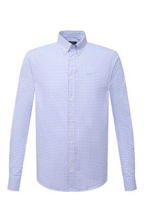 Мужская хлопковая рубашка PAUL&SHARK голубого цвета, арт. C0P3053/C00 | Фото 1