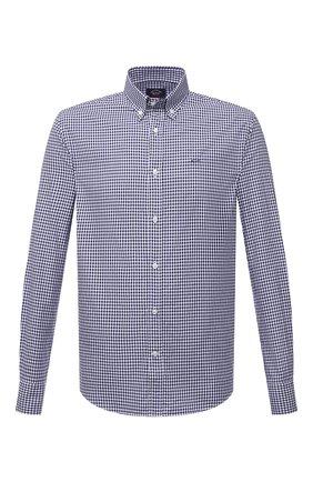 Мужская хлопковая рубашка PAUL&SHARK синего цвета, арт. C0P3053/C00 | Фото 1