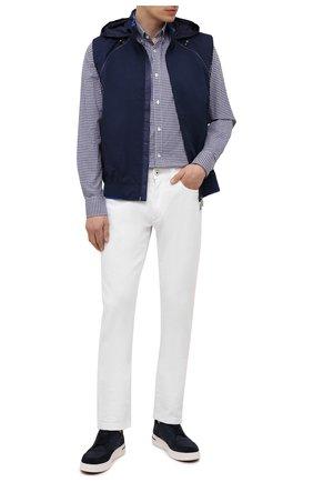 Мужская хлопковая рубашка PAUL&SHARK синего цвета, арт. C0P3053/C00 | Фото 2