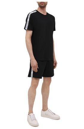 Мужские хлопковые шорты CALVIN KLEIN черного цвета, арт. KM0KM00611 | Фото 2