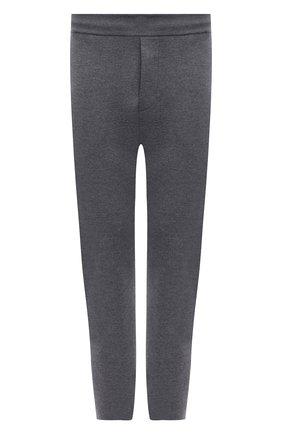 Мужские шерстяные брюки BERLUTI серого цвета, арт. R20KTU01-002   Фото 1 (Длина (брюки, джинсы): Стандартные; Материал внешний: Шерсть; Случай: Повседневный; Стили: Кэжуэл)
