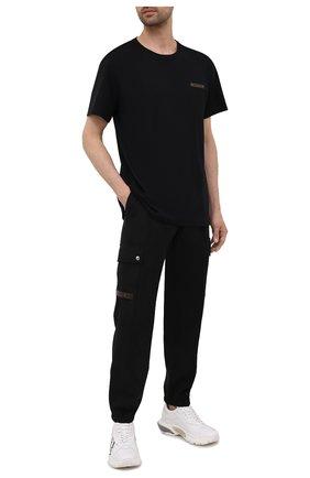 Мужская хлопковая футболка  BERLUTI черного цвета, арт. R20JRS62-002 | Фото 2