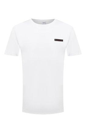 Мужская хлопковая футболка  BERLUTI белого цвета, арт. R20JRS62-001 | Фото 1