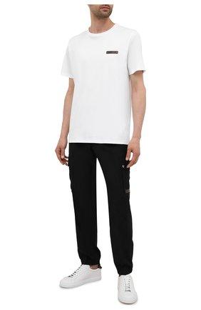 Мужская хлопковая футболка  BERLUTI белого цвета, арт. R20JRS62-001   Фото 2 (Рукава: Короткие; Длина (для топов): Стандартные; Материал внешний: Хлопок; Принт: Без принта; Стили: Кэжуэл)