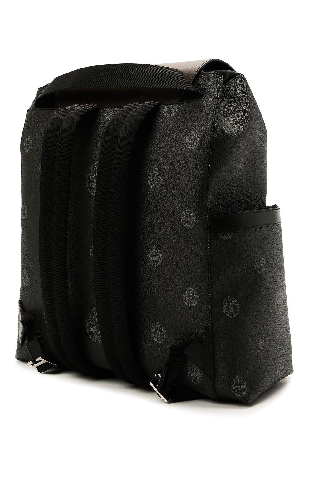 Мужской рюкзак BERLUTI черного цвета, арт. M224699 | Фото 3
