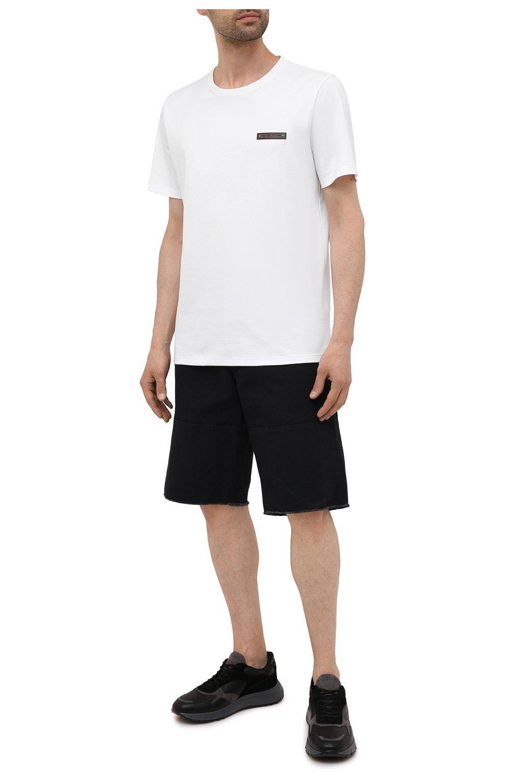 Мужские комбинированные кроссовки HOGAN черного цвета, арт. HXM5630DM90QDC   Фото 2 (Материал внутренний: Текстиль; Подошва: Массивная; Стили: Спорт)