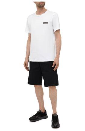 Мужские комбинированные кроссовки HOGAN черного цвета, арт. HXM5630DM90QDC | Фото 2