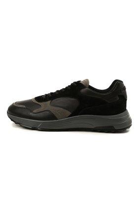 Мужские комбинированные кроссовки HOGAN черного цвета, арт. HXM5630DM90QDC   Фото 3 (Материал внутренний: Текстиль; Подошва: Массивная; Стили: Спорт)