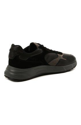 Мужские комбинированные кроссовки HOGAN черного цвета, арт. HXM5630DM90QDC   Фото 4 (Материал внутренний: Текстиль; Подошва: Массивная; Стили: Спорт)
