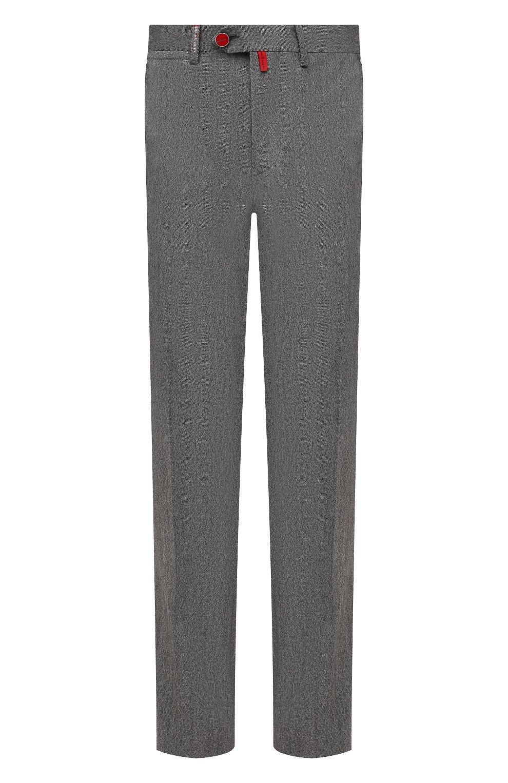 Мужские брюки из шерсти и кашемира KITON серого цвета, арт. UFPP79K0121A   Фото 1
