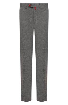 Мужские брюки из шерсти и кашемира KITON серого цвета, арт. UFPP79K0121A | Фото 1