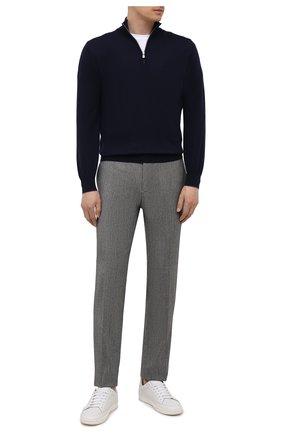 Мужские брюки из шерсти и кашемира KITON серого цвета, арт. UFPP79K0121A | Фото 2