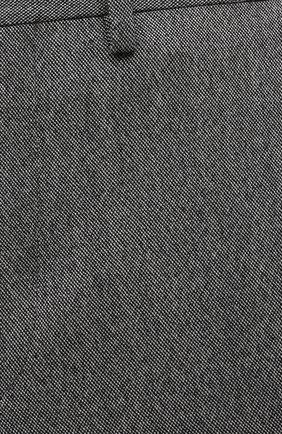 Мужские брюки из шерсти и кашемира KITON серого цвета, арт. UFPP79K0121A   Фото 5
