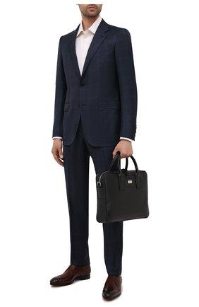 Мужская кожаная сумка для ноутбука KITON черного цвета, арт. UBLAPSN00815   Фото 2