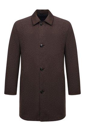 Мужской двустороннее пальто KITON коричневого цвета, арт. UW0970V0365A | Фото 1
