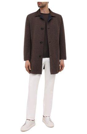 Мужской двустороннее пальто KITON коричневого цвета, арт. UW0970V0365A | Фото 2