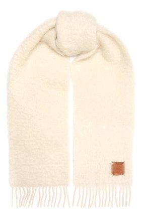Мужской шарф LOEWE белого цвета, арт. F655254X01 | Фото 1