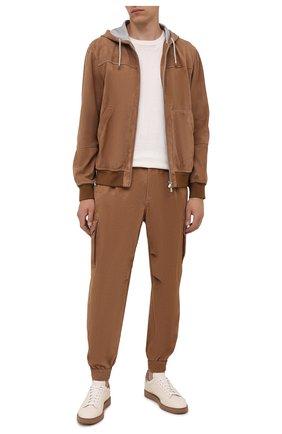 Мужские замшевые джоггеры BRUNELLO CUCINELLI коричневого цвета, арт. MPCLL9363G | Фото 2