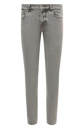 Мужские джинсы BRUNELLO CUCINELLI серого цвета, арт. MA095D2210 | Фото 1 (Длина (брюки, джинсы): Стандартные; Материал внешний: Хлопок; Силуэт М (брюки): Узкие; Стили: Кэжуэл; Кросс-КТ: Деним)
