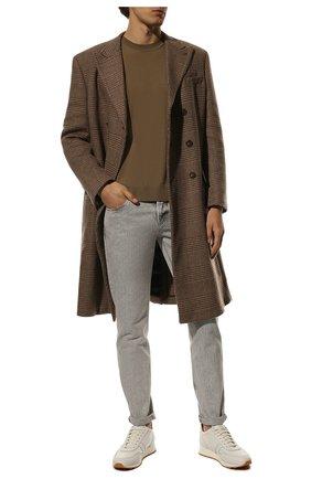 Мужские джинсы BRUNELLO CUCINELLI серого цвета, арт. MA095D2210 | Фото 2 (Длина (брюки, джинсы): Стандартные; Материал внешний: Хлопок; Силуэт М (брюки): Узкие; Стили: Кэжуэл; Кросс-КТ: Деним)