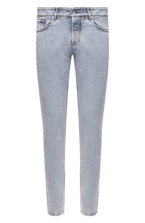Мужские джинсы BRUNELLO CUCINELLI голубого цвета, арт. MA095D2210 | Фото 1 (Материал внешний: Хлопок; Длина (брюки, джинсы): Стандартные; Силуэт М (брюки): Узкие; Стили: Кэжуэл; Кросс-КТ: Деним)