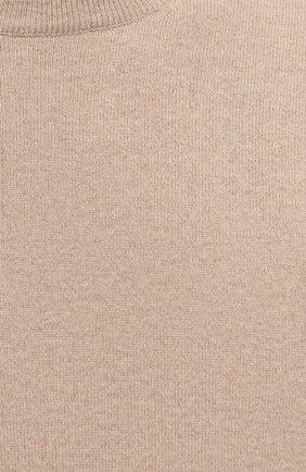 Мужской кашемировый джемпер BRUNELLO CUCINELLI бежевого цвета, арт. M2200100   Фото 5 (Мужское Кросс-КТ: Джемперы; Материал внешний: Шерсть, Кашемир; Рукава: Длинные; Принт: Без принта; Длина (для топов): Стандартные; Вырез: Круглый; Стили: Кэжуэл)