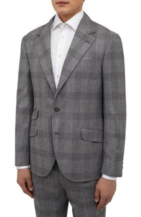 Мужской шерстяной костюм BRUNELLO CUCINELLI светло-серого цвета, арт. MN416LDWH | Фото 2