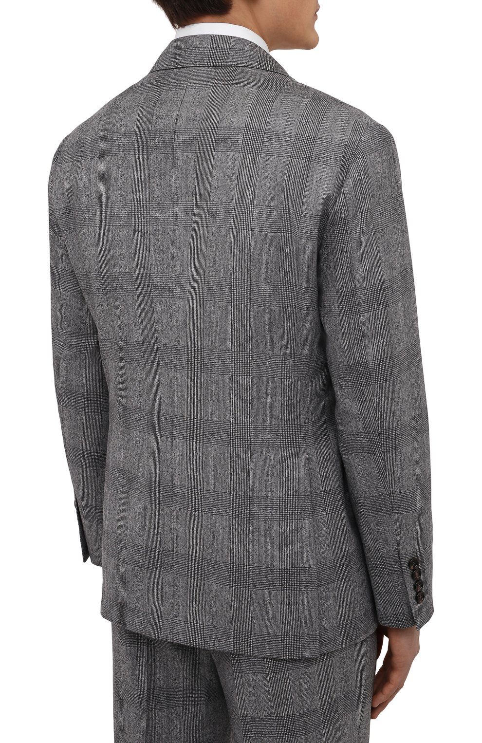 Мужской шерстяной костюм BRUNELLO CUCINELLI светло-серого цвета, арт. MN416LDWH   Фото 3