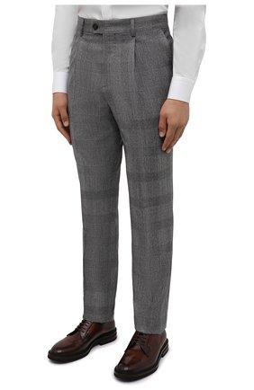 Мужской шерстяной костюм BRUNELLO CUCINELLI светло-серого цвета, арт. MN416LDWH   Фото 4