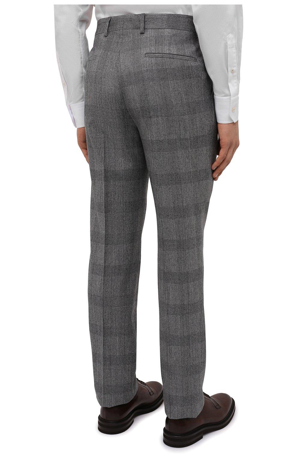 Мужской шерстяной костюм BRUNELLO CUCINELLI светло-серого цвета, арт. MN416LDWH   Фото 5