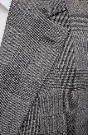 Мужской шерстяной костюм BRUNELLO CUCINELLI светло-серого цвета, арт. MN416LDWH   Фото 6
