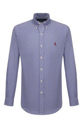 Мужская хлопковая рубашка POLO RALPH LAUREN темно-синего цвета, арт. 710842631/4656A | Фото 1