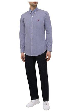 Мужская хлопковая рубашка POLO RALPH LAUREN темно-синего цвета, арт. 710842631/4656A | Фото 2