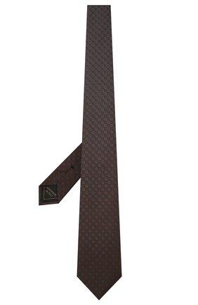 Мужской шелковый галстук BRIONI темно-коричневого цвета, арт. 061Q00/01408   Фото 2