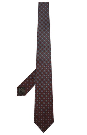 Мужской шелковый галстук BRIONI бордового цвета, арт. 061Q00/01406   Фото 2