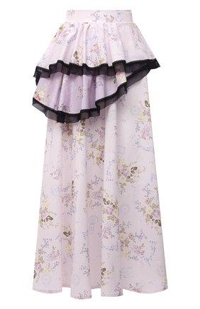 Женская хлопковая юбка ULYANA SERGEENKO светло-розового цвета, арт. GNM001SS21Resort  (0455т21) | Фото 1