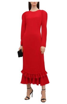 Женское платье ULYANA SERGEENKO красного цвета, арт. ABM019FW19P (1225т19) | Фото 2
