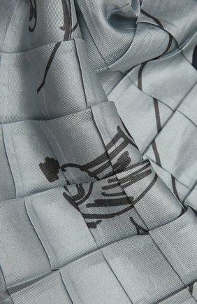 Женский шелковый платок GIORGIO ARMANI серо-голубого цвета, арт. 795303/1A104   Фото 2