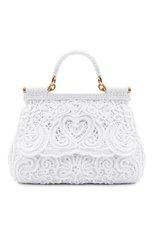 Женская сумка sicily DOLCE & GABBANA белого цвета, арт. BB6002/AW717   Фото 1