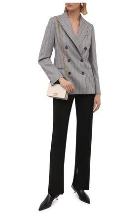 Женский шерстяной жакет BRUNELLO CUCINELLI серого цвета, арт. ME2262055 | Фото 2